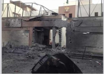 ثوار ليبيا يفجرون السفارة الإماراتية ردا على مشاركتها في قصف ليبيا