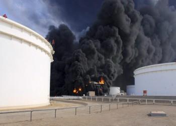 الضغوط تتواصل على النفط في 2015 مع تصاعد أزمة حرائق مرفأ السدرة الليبي