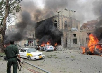 تفجير سيارة ملغومة قرب مسجد للحوثيين في صنعاء