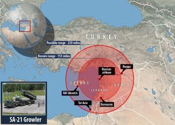 روسيا تنشر منظومة صورايخ في سوريا يمكنها إسقاط طائرات في تركيا