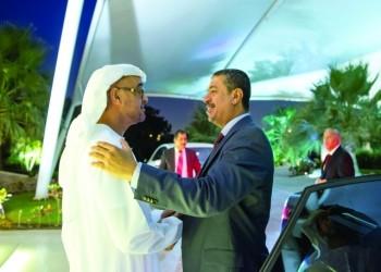 «محمد بن زايد» يستقبل «بحاح» ويبحثان الأوضاع في اليمن