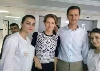 """زوجة """"الأسد"""" تظهر في مستشفى عسكري أثناء علاجها بالكيماوي"""