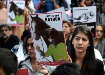 خروج الآلاف في الهند احتجاجا على اغتصاب طفلة مسلمة