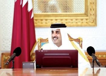 أمير قطر يبحث مع وزير الخزانة الأمريكي الأزمة الخليجية
