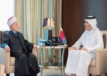 مفتي القدس يلتقي وزير الخارجية القطري في الدوحة