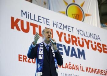 «أردوغان» يعلن السيطرة على 75% من منطقة عفرين