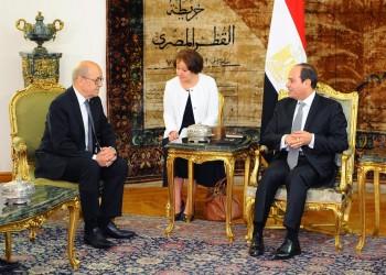 «السيسي» يبحث مع وزير خارجية فرنسا تطورات الأوضاع الليبية