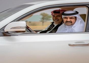 صورة لأمير قطر الوالد و«بن جاسم» خلال جولة تنزه