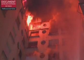 اتهام مضطربة نفسيا بإضرام النار في عمارة باريس السكنية