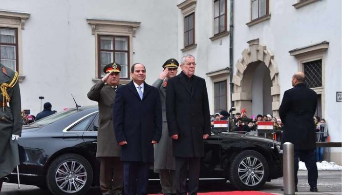 السيسي يدعو النمسا للاستثمار بالبنية التحتية الحديثة بمصر