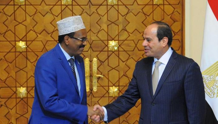 «السيسي» لـ«فرماجو»: ندعم وحدة الصومال وجهودكم ضد الإرهاب