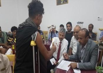 منحة عمانية 500 دولار لـ150 جريحا يمنيا لديها
