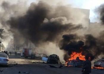 انفجار هائل بمقر وزارة الخارجية الليبية في العاصمة طرابلس