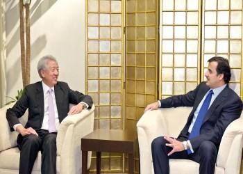 أمير قطر يصل إلى سنغافورة ثاني محطات جولته الآسيوية