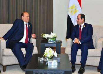 السيسي يبحث مع هادي هاتفيا مشاورات السلام اليمنية بالسويد