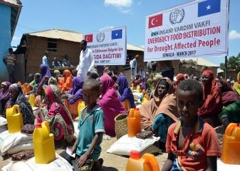 700 ألف دولار مساعدات إنسانية تركية لنحو 18 ألف عائلة في أفريقيا