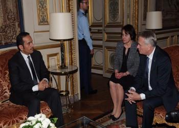 وزير خارجية قطر يبحث مع نظيره الفرنسي سبل دعم العلاقات الثنائية
