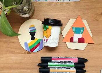 شابة سعودية تحول أكواب القهوة الورقية لقطع فنية مميزة