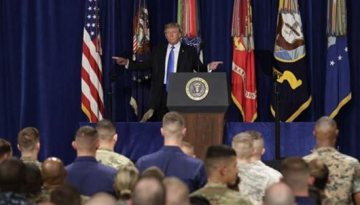 «ترامب» يتوعد بملاحقة أعداء الولايات المتحدة في أفغانستان