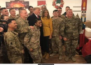 صور.. ترامب وزوجته ميلانيا يزوران العراق بشكل مفاجئ