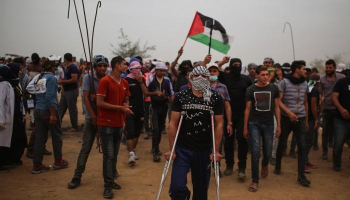 (إسرائيل) تواصل استهداف مسيرة «العودة».. 350 مصابا بالجمعة السادسة