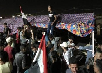 مئات العراقيين يبدؤون اعتصاما مفتوحا في محافظة المثنى