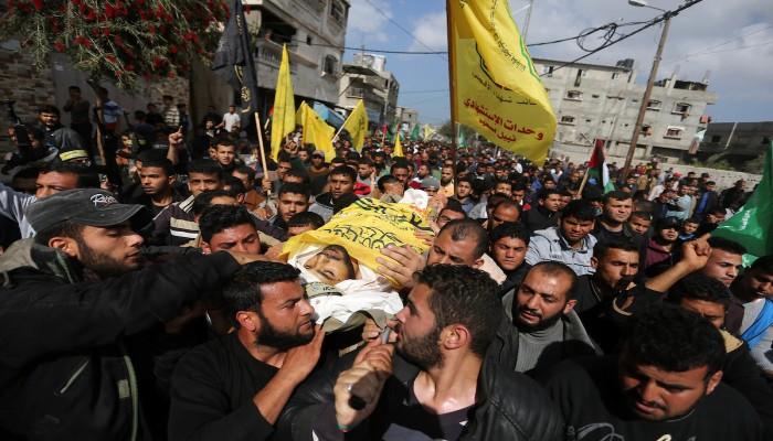 ارتفاع ضحايا مسيرة العودة الفلسطينية إلى 17 شهيدا