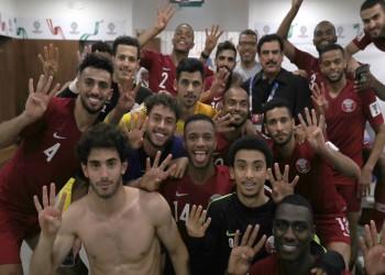 الاتحاد القطري يعبر عن سعادته برباعية آسيا بصورة لبعثته