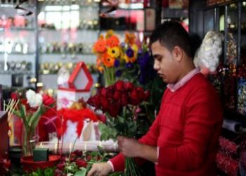 عيد الحب يزور غزة المحاصرة على استحياء