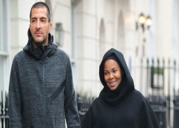 «جانيت جاكسون» تظهر بالحجاب بعد زواجها من مليونير قطري