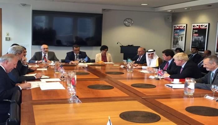 وزراء خارجية السعودية والإمارات وأمريكا وبريطانيا يبحثون الأزمة اليمنية في الرياض
