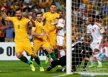 فيديو.. الإمارات تخسر من أستراليا وتقلص آمالها في التأهل لمونديال روسيا
