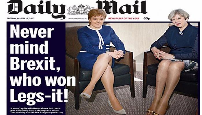 مأزق أخلاقي لـ«ديلي ميل» بسبب سيقان رئيسة وزراء بريطانيا