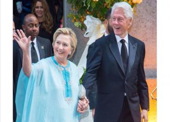 «كلينتون» تلفت الأنظار بلباس مغربي في حفل زفاف (إسرائيلي)