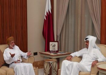 أمير قطر يبحث مع وزير الخارجية العماني الأزمة الخليجية