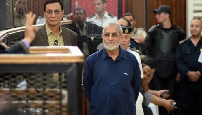 مصر.. السجن المؤبد لبديع و15 آخرين