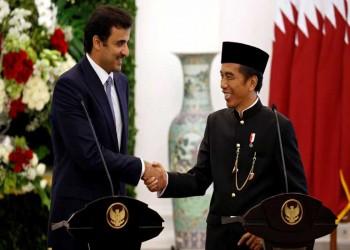 أمير قطر من إندونسيا: لا رابح في الأزمة الخليجية