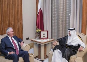 «تميم» يبحث مع «تيلرسون» مستجدات الأزمة الخليجية