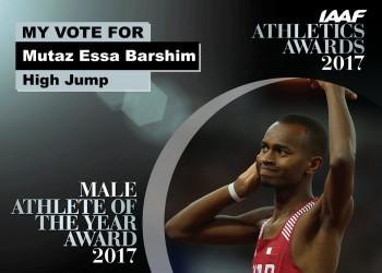 القطري «برشم» أفضل رياضي عربي في 2017