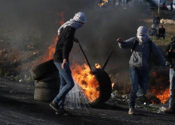 مواجهات بالضفة بين فلسطينيين والجيش الإسرائيلي