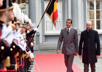 أمير قطر يبحث مع رئيس وزراء بلجيكا تحديات المنطقة