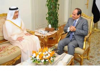 «السيسي» يستقبل وزير الخارجية الإماراتي بقصر الاتحادية