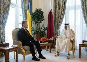 أمير قطر ورئيس أوكرانيا يشهدان توقيع 5 اتفاقيات