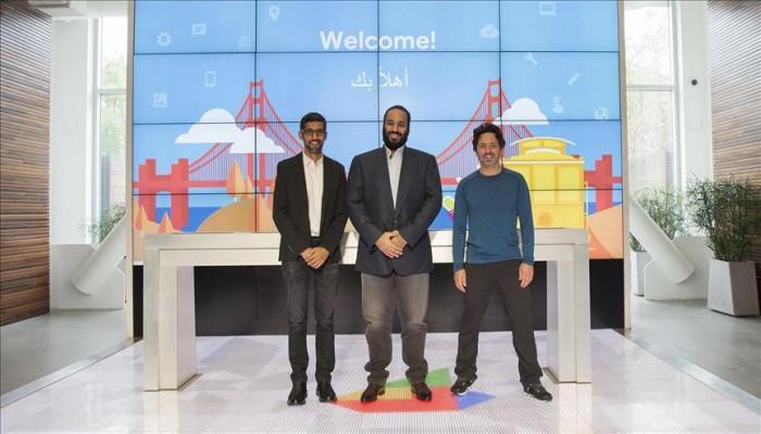 «بن سلمان» يبحث مع «غوغل» الأمن السيبراني