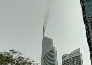 حريق في برج الماس الشهير بدبي (فيديو)