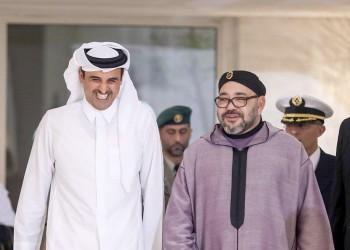 أنباء عن لقاء سري بين أمير قطر وملك المغرب