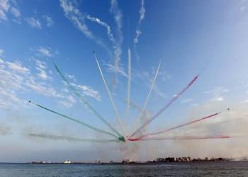 طائرات قتالية قطرية وإيطالية في استعراض مشترك بالدوحة