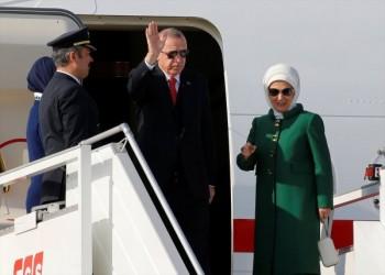 أردوغان يسافر إلى فرنسا بالطائرة المهداة من أمير قطر (صور)