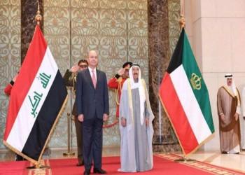 الرئيس العراقي وأمير الكويت يجريان مباحثات رسمية بقصر بيان