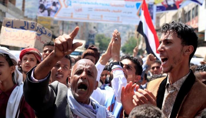 اليمنيون في تعز وشبوة يتظاهرون ضد الانفلات الأمني والاغتيالات